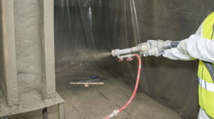 Fireproofing: Cementitious (SFRM - Spray Fire Resistive Materials)